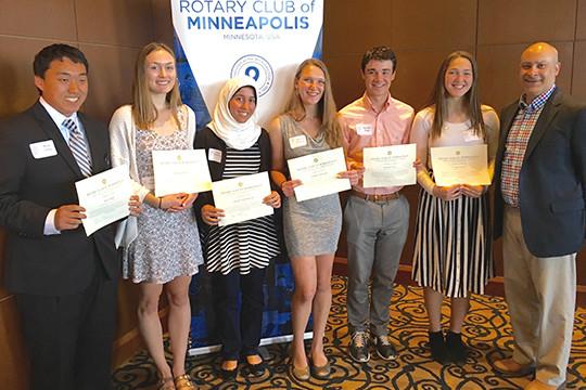College Scholarship Winners - Minneapolis Rotary Club